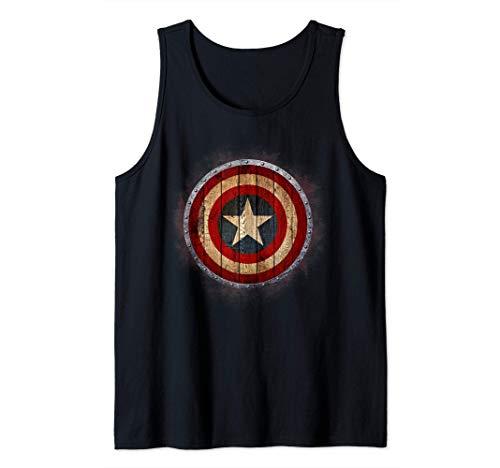 Marvel Captain America Shield Wood Print Canotta