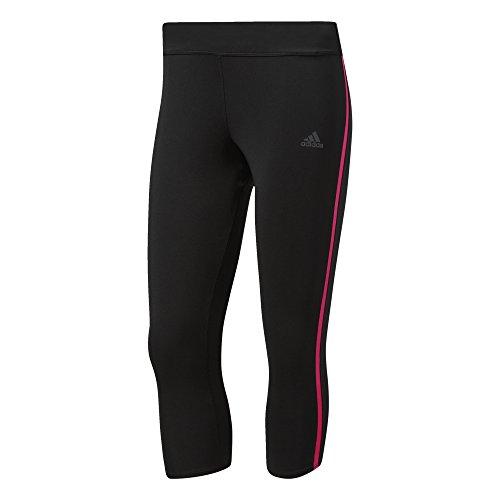 adidas Damen Response 3/4 Tights, Black/Shock Pink, S