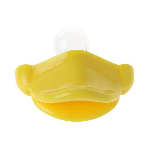 A0127 Chupete para bebé, divertido pato boca chupete mordedor cuidado recién nacidos niños calidad alimentaria silicona cuidado masticar niño
