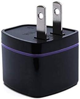全世界対応マルチ変換プラグA型(海外電化製品を日本で利用) A,BF, C, B3, O,B, コンセント変換アダプター 電源形状変換プラグ 世界の家電を日本で使える, 世界のコンセントを日本仕様に変換(ブラック)