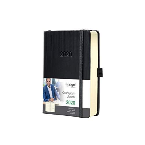 SIGEL C2011 Tageskalender 2020, ca. A6, schwarz, Hardcover Conceptum - weitere Modelle