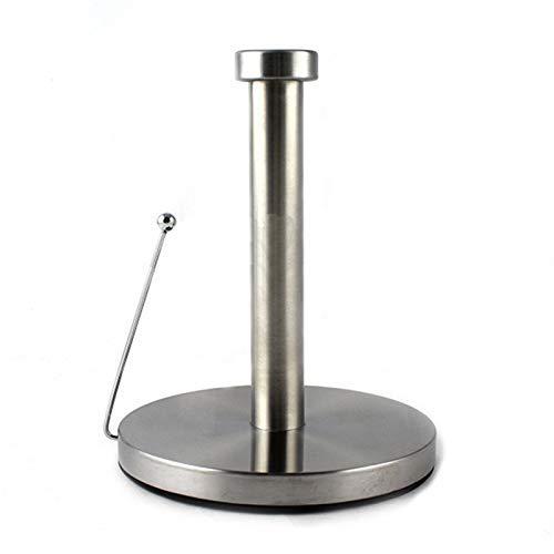 DXX-HR Portarrollos de papel de cocina vertical de acero inoxidable para cocina, baño, color plateado