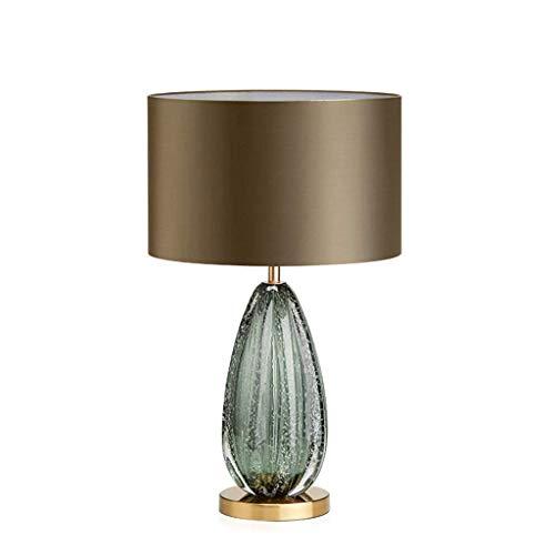 LZQBD Lámparas de Mesa, Lámpara de Escritorio Mesa de Cristal Mesa de Vidrio Minimalista Dormitorio Americano Lámpara de Cama Lámpara de Cama Lámpara Creativa Estudio Lámpara de Mesa de Sala de Estar