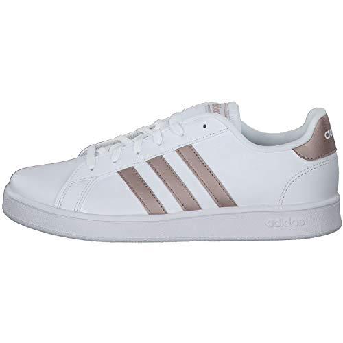 adidas Grand Court, Sneaker, Multicolor Ftwwht Coppmt Glopnk 000, 38 EU