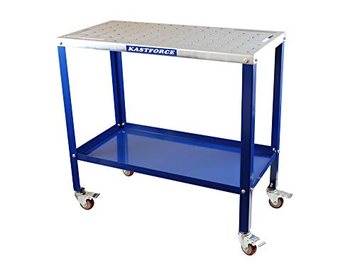 KASTFORCE KF3002 Portable Welding Table Wedling Cart Universal Work Table with 5/8' /16mm Holes on...