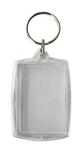 Pw International-Porta chiavi trasparenti, rettangolare, in plastica, confezione da 6