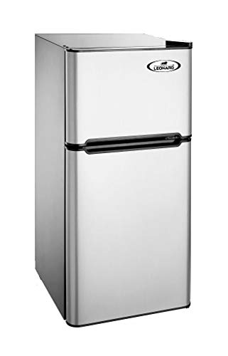 Leonard-USA Mini Refrigerator Double Door 110L with Separate Deep Freezer Compartment (Based on American Technology)