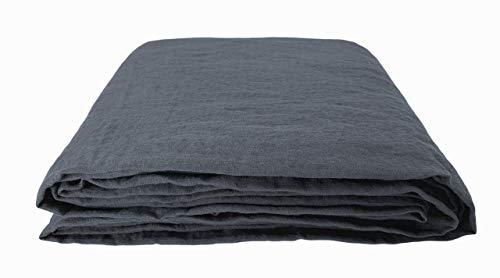 JOWOLLINA 100% Leinen Stonewashed Laken Bettlaken Überwurf (140x220 cm, Bezel)