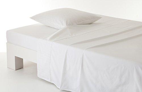 Anne de Solene Drap Retro White Coton Blanc 180 x 290 cm
