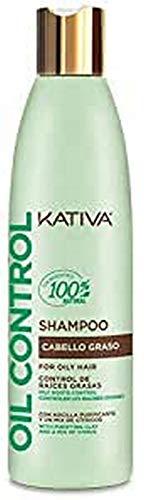 KATIVA Oil Control Shampoo, Multicolor, Naranja, 250 Mililitros