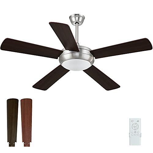 ventilatore da soffitto a pale 52 in Ventilatore da Soffitto con Luce LED