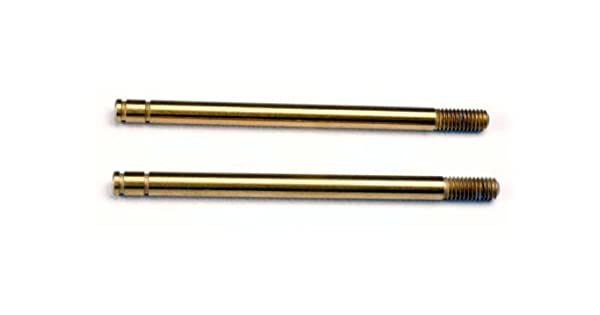 Traxxas 1664T: Shock shafts 2 hardened steel titanium nitride coated long