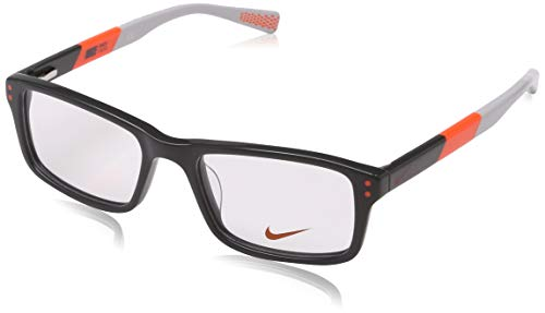 Nike Herren 5537 060 47 Brillengestelle, Grau (Dark Grey/Total Orange)