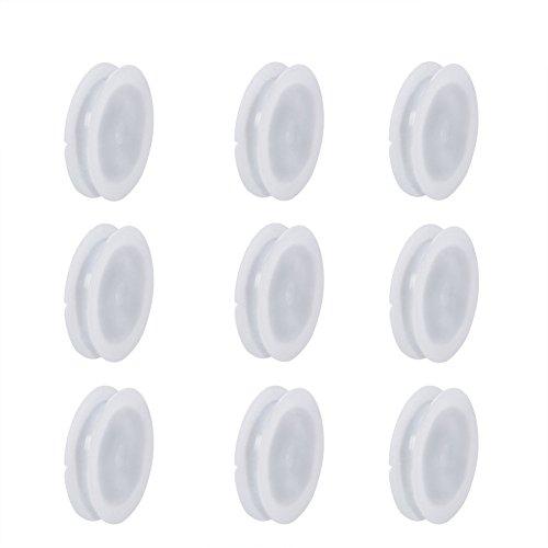 NBEADS 50 Stück Weiß Kunststoff Spulen Leere Spule Gewinde Spulen Nähmaschine Spulen Handwerk Gewinde Kabel Drahtseil Kette Rolle