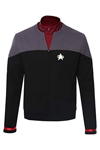Fortunezone Star Trek Generations Captain Jean-Luc Picard Cosplay Kostüm Jacke Herren XXL