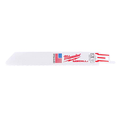 Milwaukee 48-00-5182 Super Sawzall Blade 14 Teeth per Inch 6-Inch Length (5pack)