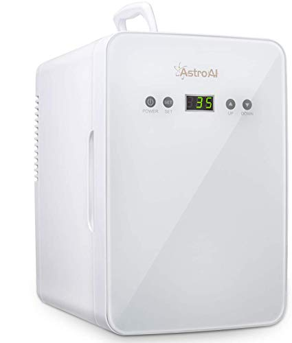 AstroAI 冷蔵庫 小型 ミニ冷蔵庫 小型冷蔵庫 冷温庫 6L 化粧品 小型でポータブル 家庭 車載両用 保温 保冷 2電源式 便利な携帯式 コンパクト 小型冷蔵庫 日本語説明書 3年保証付き M060W-1