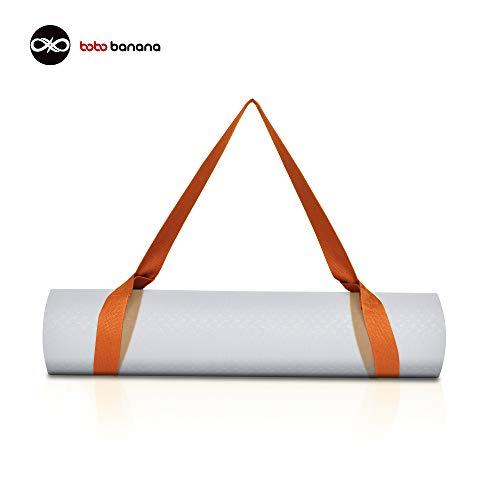 bobo banana Yogamatte Tragegurt - Yoga Sling Tragegurt mit verstellbaren Schlaufen für alle Yogamattengrößen (Orange)
