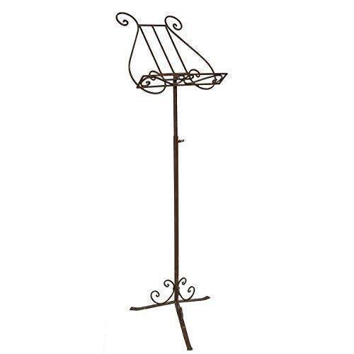 linoows Notenständer, Speisekartenständer, Stativ Buchständer Antik-Stil aus Eisen