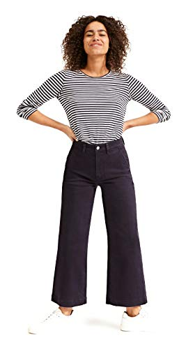 Everlane The Wide Leg Crop Pant for Women in Navy, 6
