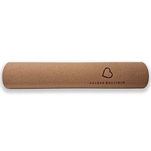 Calexa Boutique Cork Yoga Mat - 6mm Thick Natural Cork Yoga Mat Non-Slip, Men, Women,...