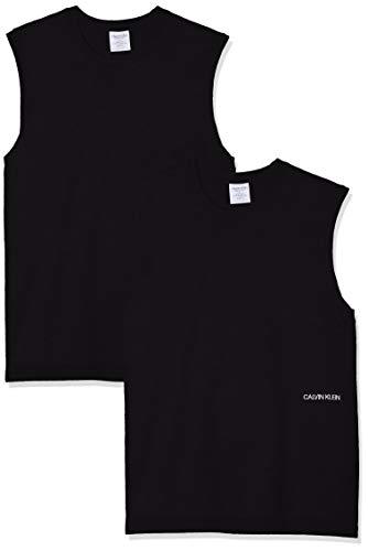 Calvin Klein Herren Muscle Tank 2PK (Unisex) T-Shirt, Schwarz (Black 001), X-Small (Herstellergröße: XS)