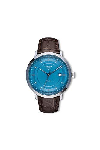Cauny Reloj Analógico de Hombre   Prima Automatic Blue Silver   Movimiento Automático   Función 3 Horas con Fecha   Resistente al Agua 10 ATM   Hecho en Acero 316L   Calidad Suiza