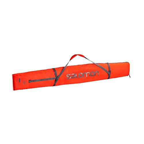 Salomon, Housse à Skis Pratique et Résistante, Pour 1 Paire de Skis, ORIGINAL 1 PAIR SkisLEEVE, Rouge (Cherry Red)/Gris foncé (Ebony), NS, LC1171000