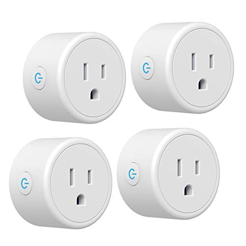 Smart Plug CRESTIN Mini WiFi Outlet Compatible with Alexa, Google Home, No Hub Required, Remote Control Your Home Appliances from Anywhere (4)