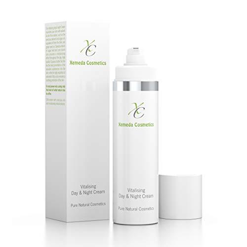Crema de día y de noche vitalizante – Cuidado de belleza con valiosos aceites naturales – Crema hidratante antiarrugas – Cosmética natural fabricada en Alemania.