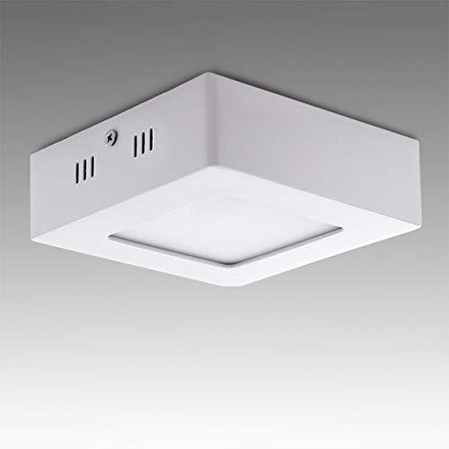 Greenice | Plafón LED Cuadrado Superficie 120Mm 6W