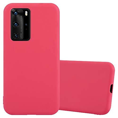 Cadorabo Custodia per Huawei P40 PRO in CANDY ROSSO - Morbida Cover Protettiva Sottile di Silicone TPU con Bordo Protezione - Ultra Slim Case Antiurto Gel Back Bumper Guscio
