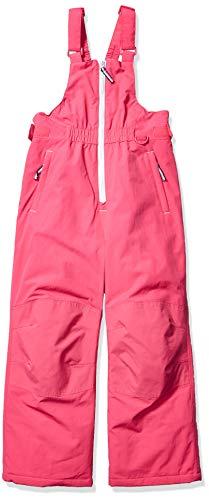 Amazon Essentials Girls' Little Water-Resistant Snow Bib, Raspberry Pink, Small