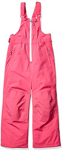 Amazon Essentials Girls' Big Water-Resistant Snow Bib, Raspberry Pink, X-Large