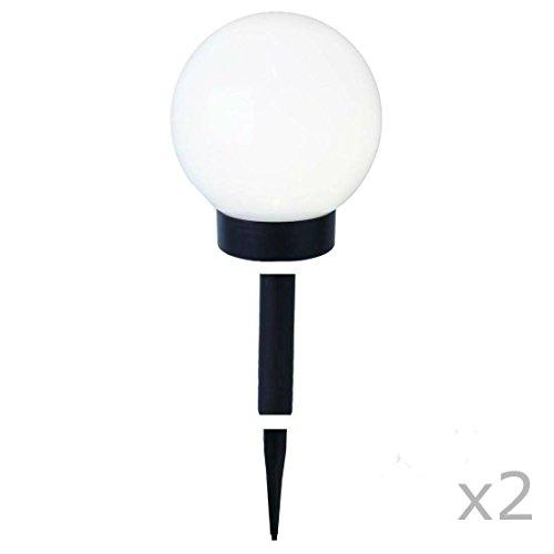 GLOBE LIGHT - 2 Boules lumineuses d'extérieur Solaires LED à piquer ou poser Ø15cm - Luminaire d'extérieur Best Season designé par
