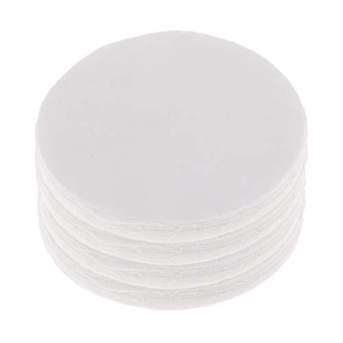IPOTCH 40pcs Runde Keramikfaser Isolierdecke Mikrowellenofen Regal Papier