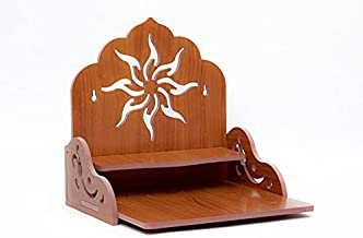 Puja Temple Wood God Stand for Pooja Room Puja Mandir for Home Wall Office. Engineered Wood Home Temple/ Gift Use Temple (...