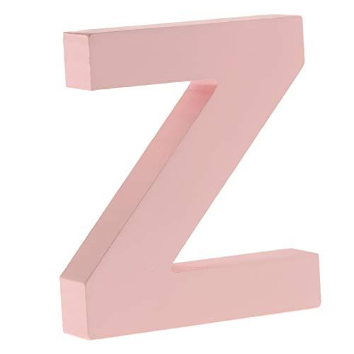 F Fityle Rosa DIY A-Z Buchstaben Alphabet Holzbuchstaben zum Aufstellen - Z