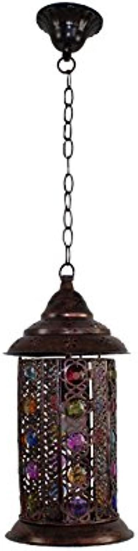 European Style Retro American Village Kronleuchter Kreative Eisen Plexiglas Farbige Perlen Handgemachte Lichter Kronleuchter E14 Schlafzimmer Wohnzimmer Restaurant Bar (Farbe   2 )