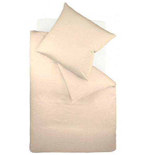 fleuresse Interlock-Jersey-Bettwäsche Colours beige 2043 Größe 135 x 200 cm