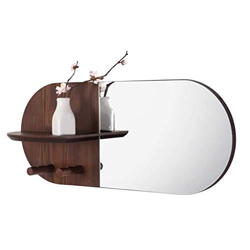 Household Necessities/Creative wandplank, wandplank, voor woonkamer, decoratieve frame, veranda, lijst, make-upspiegel, spiegel, spiegel, spiegel, HD, zilverkleurig 59*25CM Lichtbruin.
