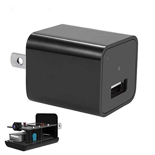 Hidden Record Camera Spy Camera Hidden Camera Premium Pack HD 1080P Motion Detection USB Hidden Camera - Surveillance Camera - Mini spy Camera Nanny Camera Best Spy Camera Charger (Hidden Record cam)