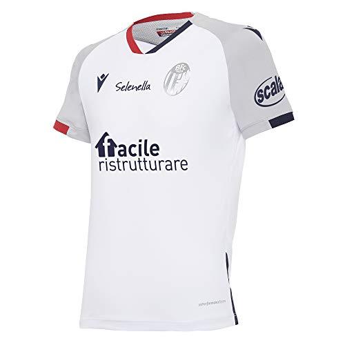 Macron Kind 0-24 Monate Bfc M20 Maglia Gara Mm Jr Away Trikot Bologna FC 2020/21, weiß, JXL