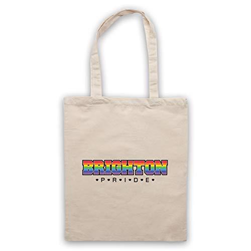 My Icon Art & Clothing Brighton Pride LGBT Festival Gay Pride March Sac d'emballage, Naturel