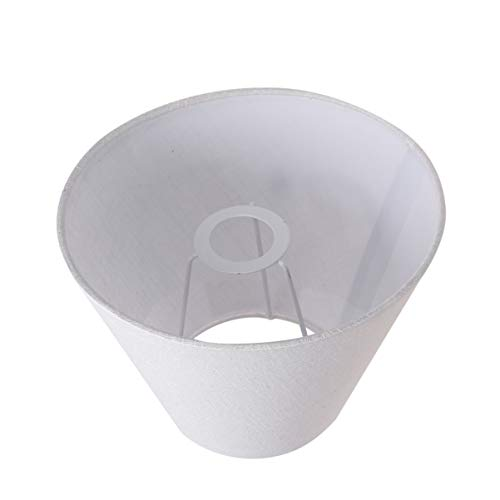 SOLUSTRE Stoff Lampenschirm Übergang Schlafzimmer Lampenschirm Leinen Lampenschirm für Tisch Kronleuchter Wandleuchte Weiß
