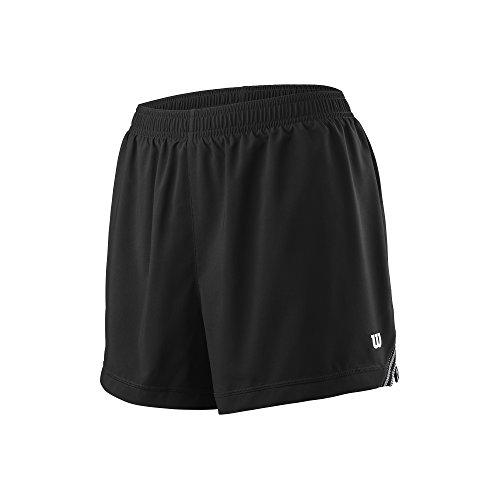 Wilson Damen Tennis-Shorts, W Team 3.5'' Short, Polyester, Schwarz, Größe: L, WRA766302