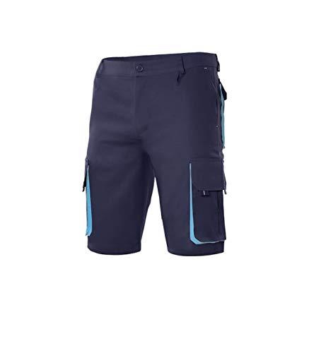 Velilla 103007 61/5 42 - Bermudas bicolor multibolsillos Azul Navy Talla 42