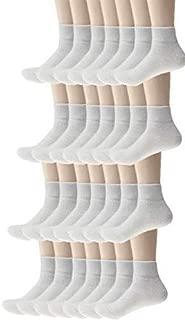 Bulk Case of Wholesale Unisex Men's & Women's Ankle Socks in White (Size 9-11) (120 Pack)