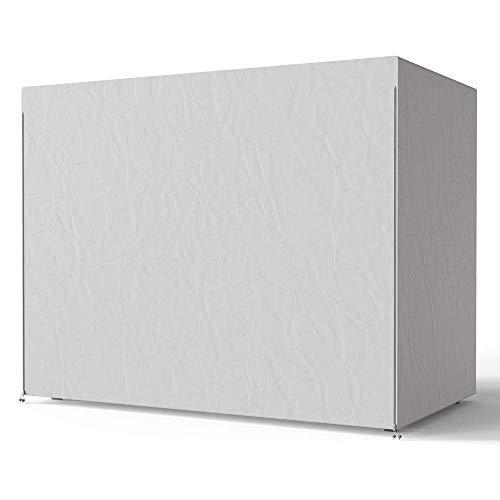 LYMHGHJ 3-Sitzer-Gartenschaukelabdeckung wasserdichte Hängemattenschaukel-Sonnenschutzabdeckungen für den Außenbereich Hochleistungs-Sonnenliegenabdeckungen 220 x 170 x 145 cm (grau)