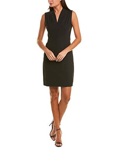 Elie Tahari Women's Seasonless Wool Amabel Shift Dress, Black, 6